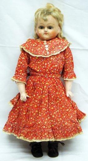 Papier Mache Head Doll