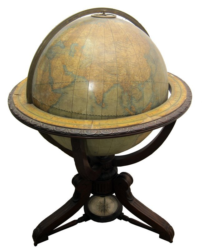 JOHNSTON 30 INCH TERRESTRIAL GLOBE