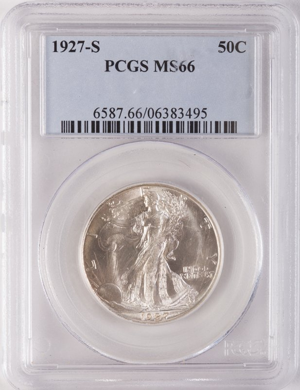 1927-S WALKING LIBERTY SILVER HALF DOLLAR