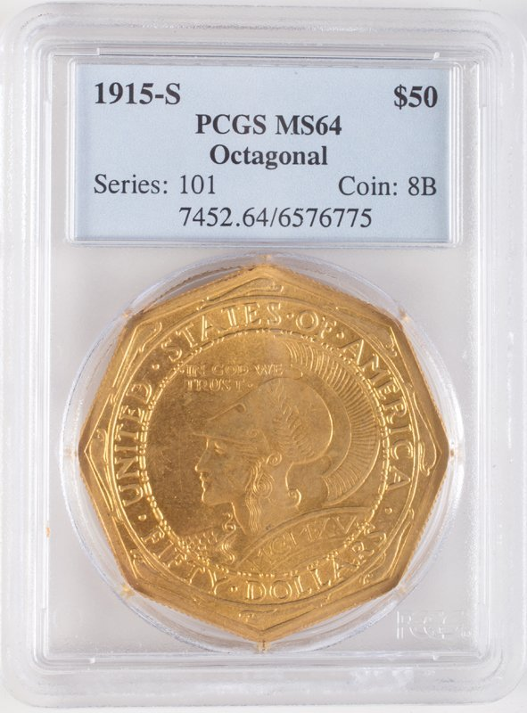 1915-S PANAMA PACIFIC EXPOSITION 50 DOLLAR GOLD PIECE