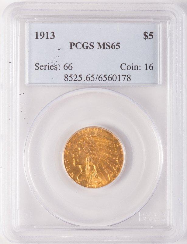 1913 INDIAN 5 DOLLAR GOLD (MOTTO)