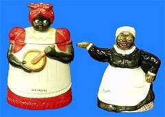 14: Black Americana MAMMY COOKIE JAR AND TEAPOT