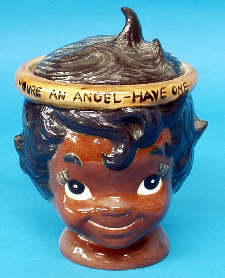 19: Black Americana CONTEMPORARY ANGEL COOKIE JAR