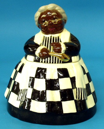 20: Black Americana CONTEMPORARY GRANNY COOKIE JAR
