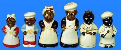 71: Black Americana MAMMY & CHEF SALT & PEPPER SHAKERS