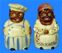 110: Black Americana MAMMY & CHEFSALT & PEPPER SET MIJ