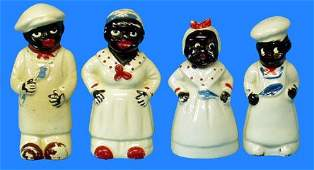 333: Black Americana MAMMY & CHEF SALT & PEPPER SHAKERS