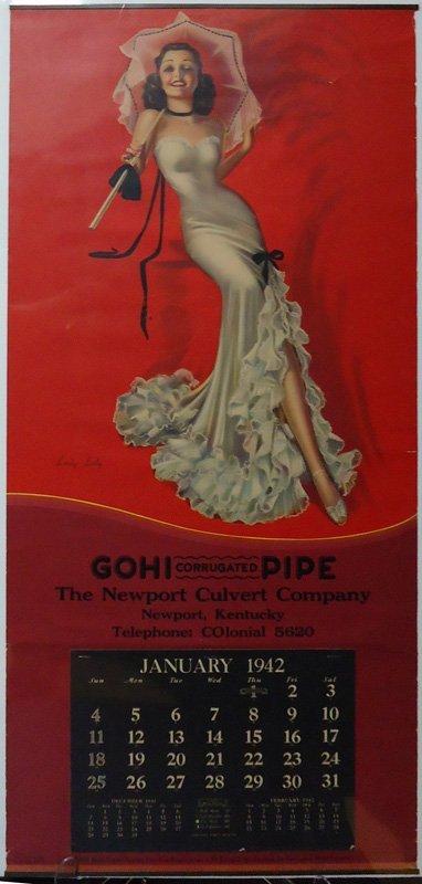 GOHI PIPE PIN-UP CALENDAR 1942
