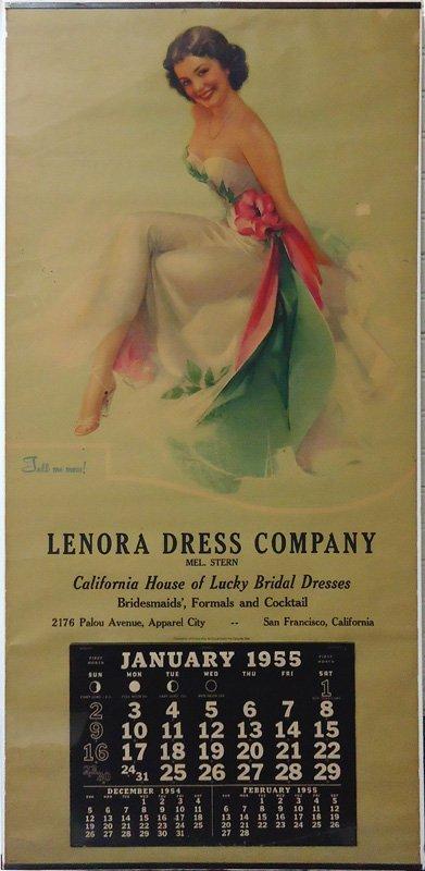 LENORA DRESS PIN-UP CALENDAR 1955