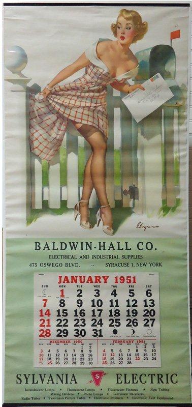 BALDWIN HALL PIN-UP CALENDAR 1951