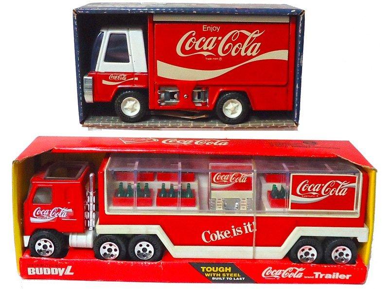 COCA-COLA BUDDY L TOY TRUCKS 1960'S-1970'S