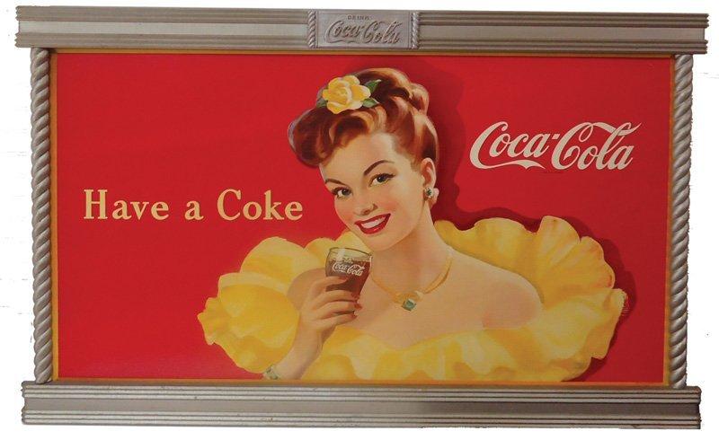 COCA-COLA CARDBOARD 1947