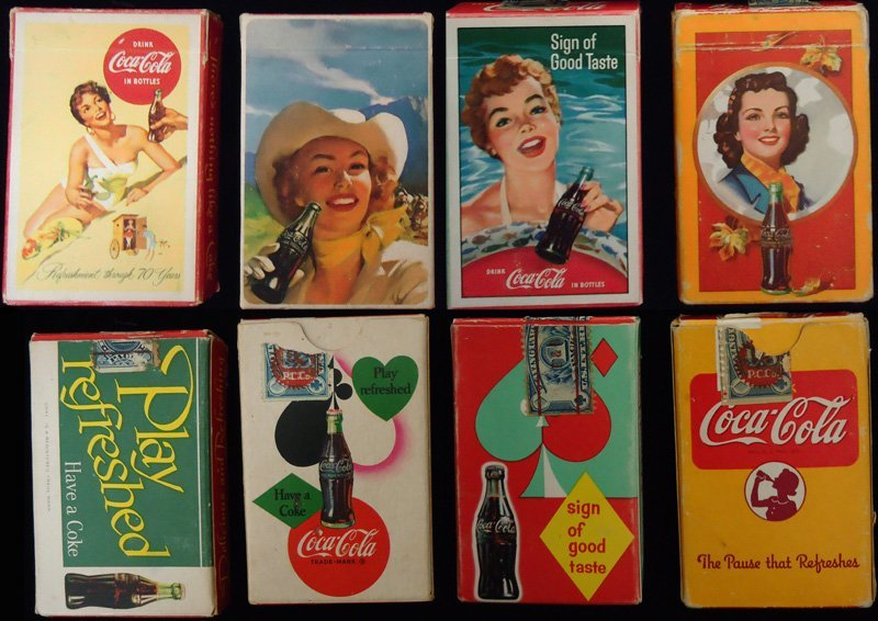 COCA-COLA PLAYING CARDS (4) DECKS