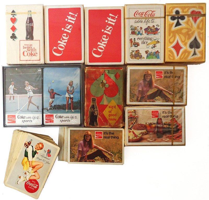 COCA-COLA PLAYING CARDS (12) DECKS & PARTIAL DECKS