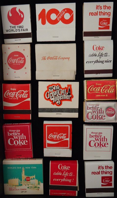 COCA-COLA MATCH PACKS (20+/-)