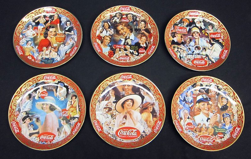 COCA-COLA COMMEMORATIVE PLATES (12) PORCELAIN