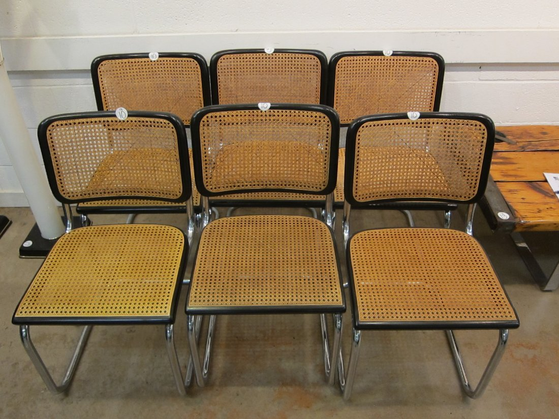 SET OF (6) KNOLL MARCEL BREUER CESCA DINING CHAIRS - 2