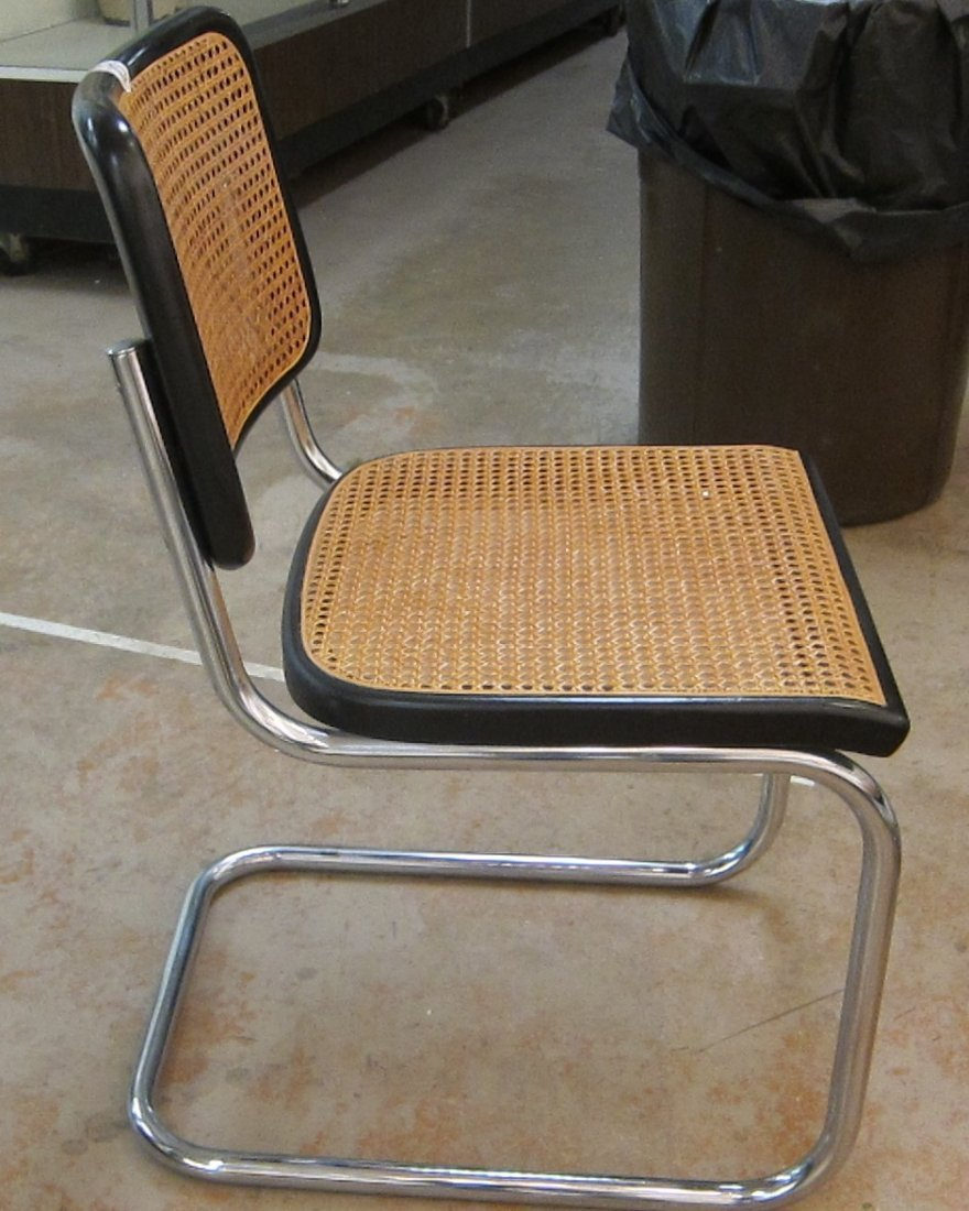 SET OF (6) KNOLL MARCEL BREUER CESCA DINING CHAIRS - 6