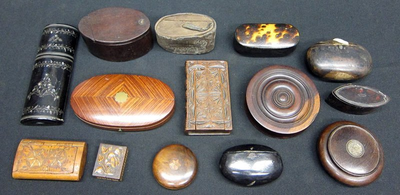 MINIATURE BOXES, ANTIQUE (14)