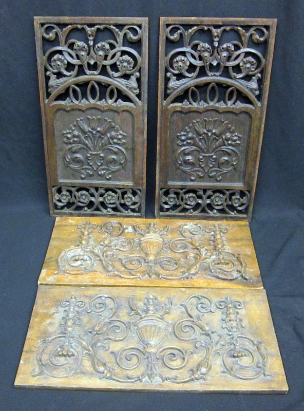 CARVED ARCHITECTURAL PANELS (4)