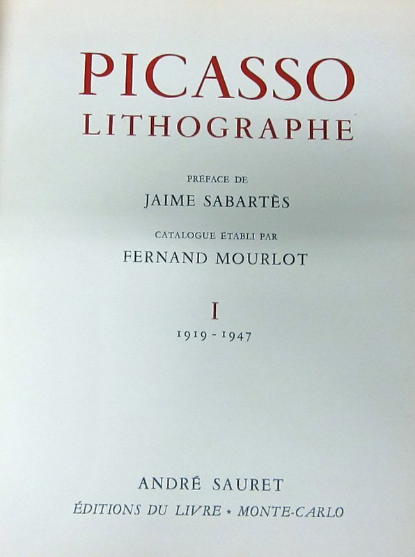 PICASSO LITHOGRAPHE (4) VOLUMES