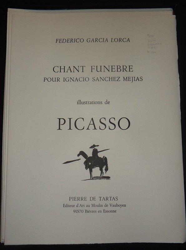 """PICASSO ILLUS. FEDERICO GARCIA LORCA """"CHANT FUNEBRE"""" - 2"""