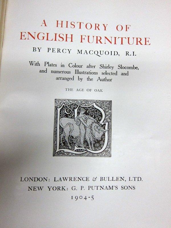 FURNITURE BOOKS - (2) SETS - 1905 - 2