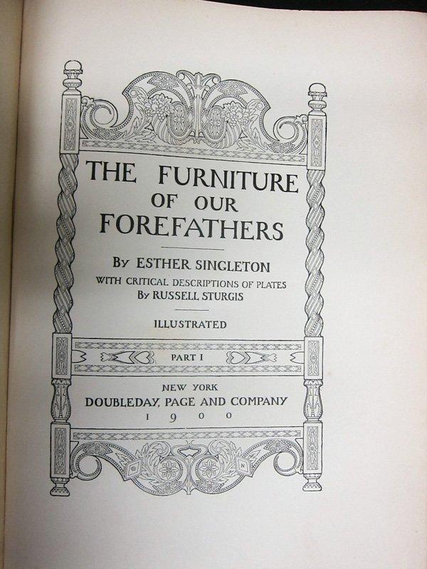 FURNITURE BOOKS - (2) SETS - 1905 - 3