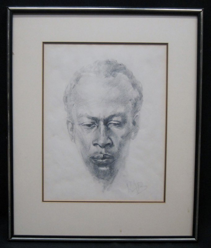 PENCIL SKETCH OF BLACK MAN
