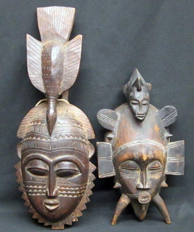AFRICAN SENUFO MASKS (2)