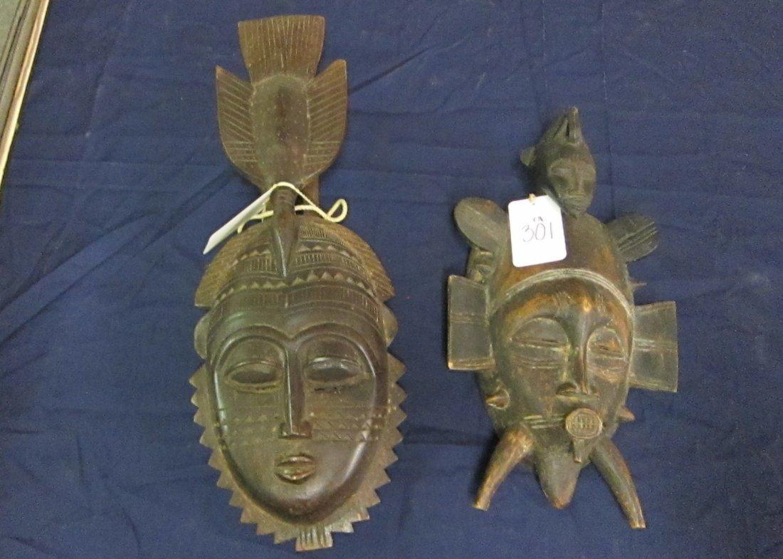 AFRICAN SENUFO MASKS (2) - 2