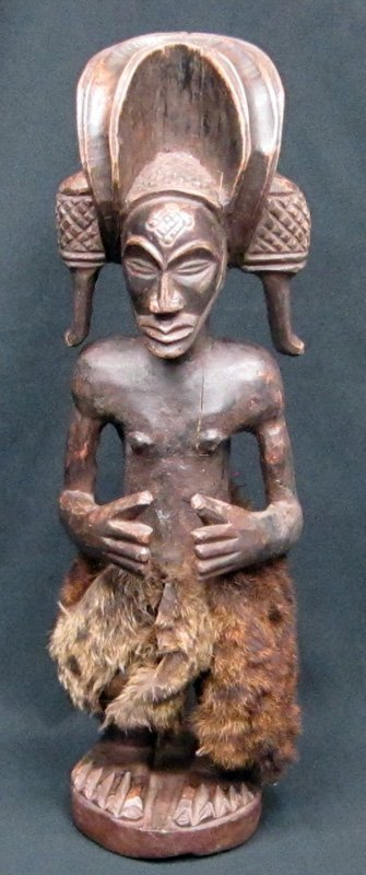 AFRICAN CHOKWE SCULPTURE - ANGOLA