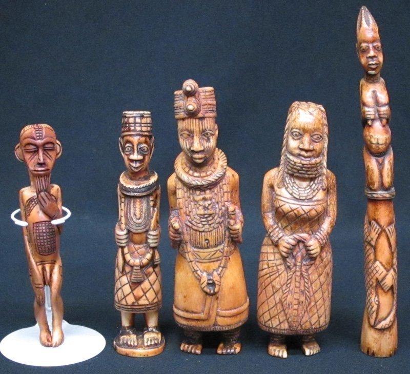 AFRICAN BONE FIGURINES (5)