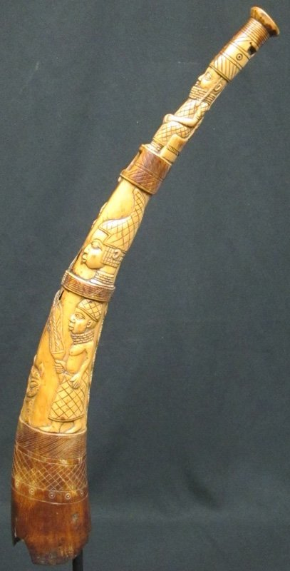 AFRICAN HORN CARVING