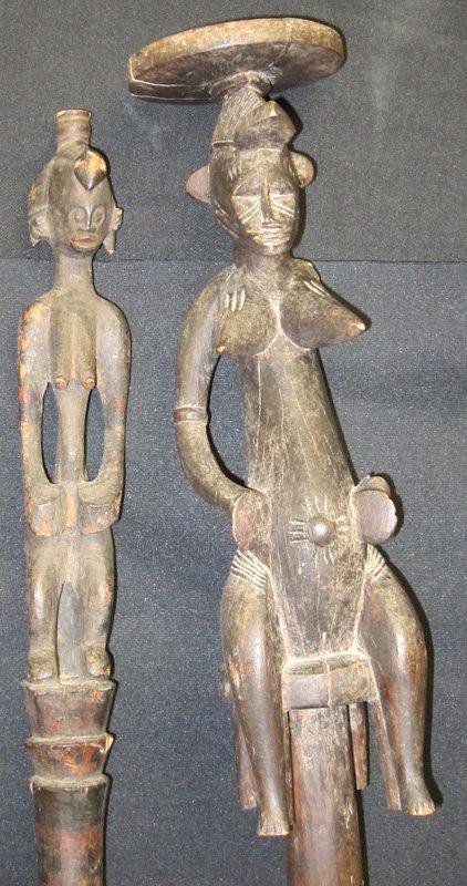 AFRICAN CANE & STAFF (2) PCS.