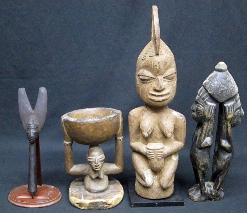 YORUBA AFRICAN SCULPTURES (4)