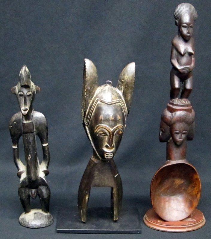 AFRICAN SCULPTURES (3)
