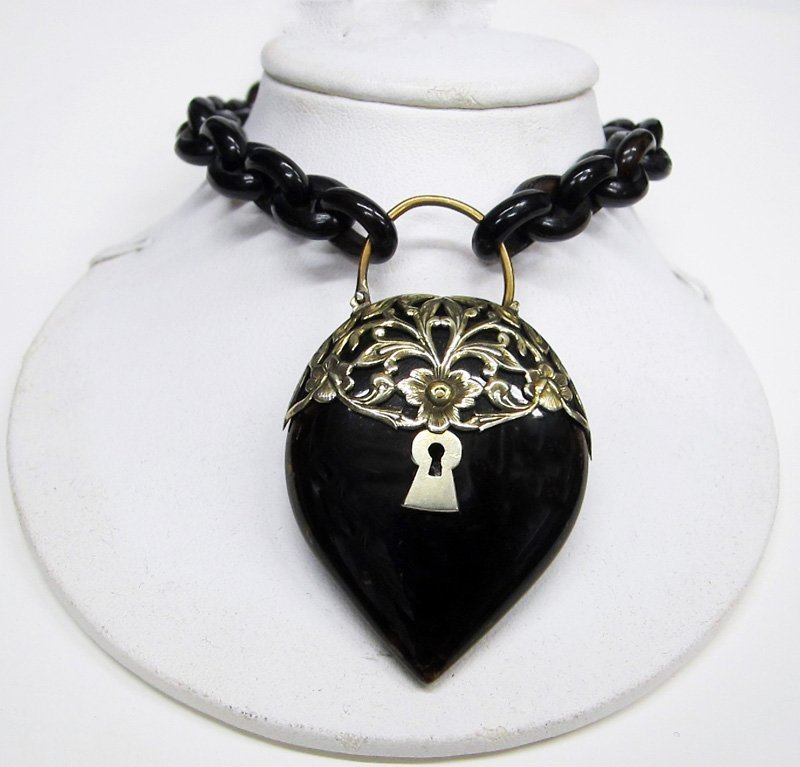 TORTOISE HEART DROP and CHAIN