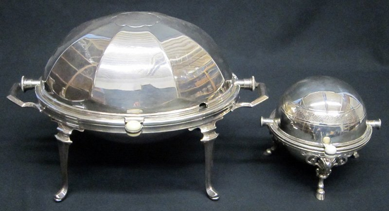 VICTORIAN SILVERPLATE SERVERS (2)
