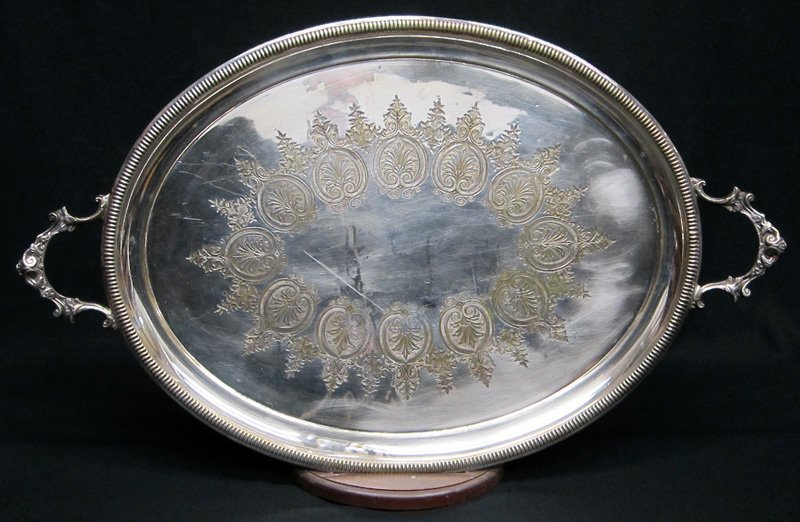 VICTORIAN SILVERPLATED TRAY