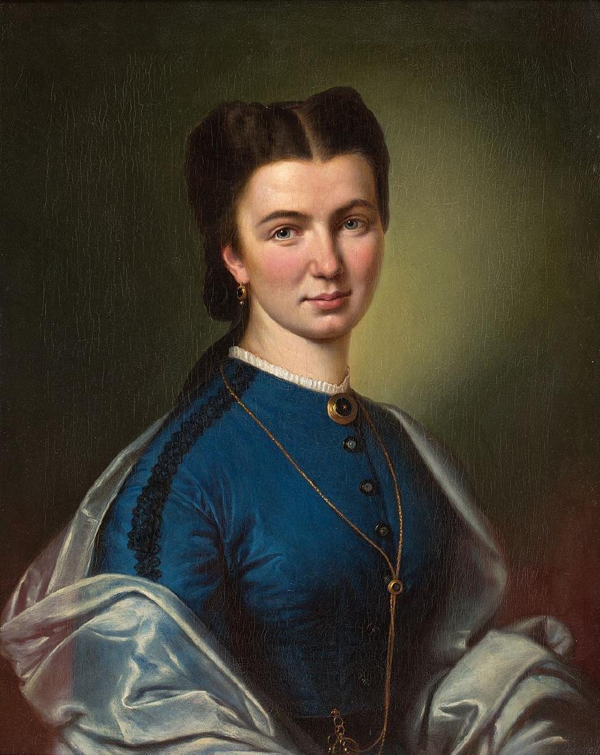 ARTIST UNKNOWN – PORTRAIT OF WOMAN, XIX CENT.