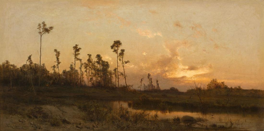 ZYGMUNT SIDOROWICZ (1846 – 1881) - THE SUNSET, 1878