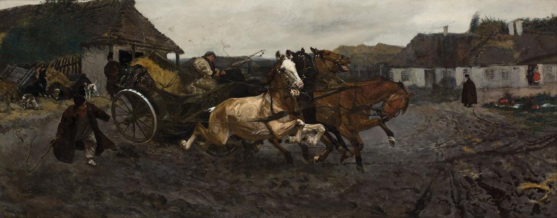 JÓZEF CHE?MO?SKI (1849 – 1914) - ATTEMB TO FOUR (1878)