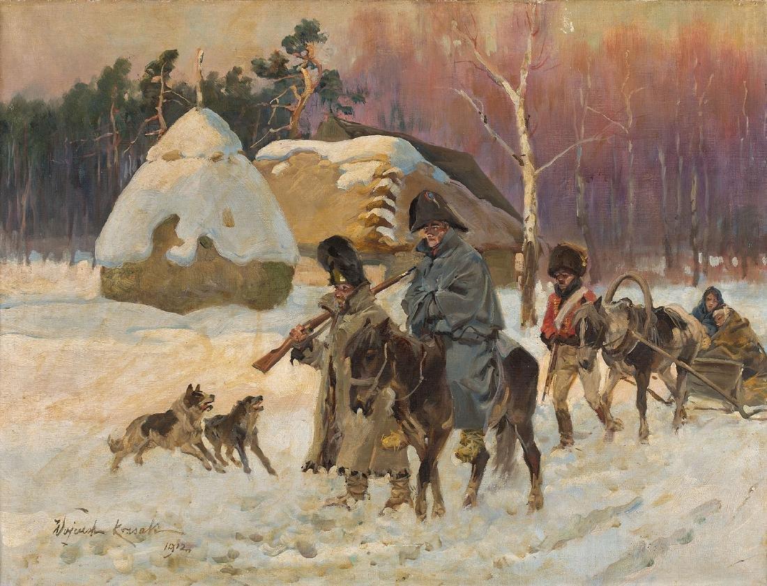 JERZY KOSSAK (1886 – 1955) - SCENE FROM NAPOLEON'S