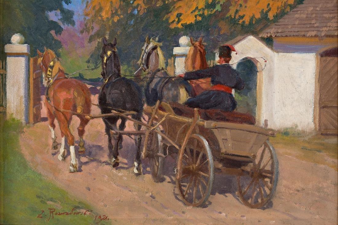 ZYGMUNT ROZWADOWSKI (1870 – 1950) - DEPARTURE FROM
