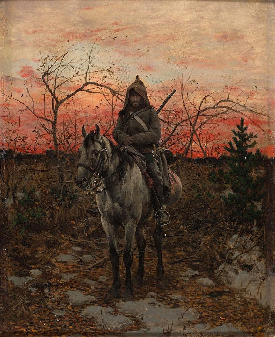 ALFRED WIERUSZ-KOWALSKI (1849-1915) - ON POSITION,