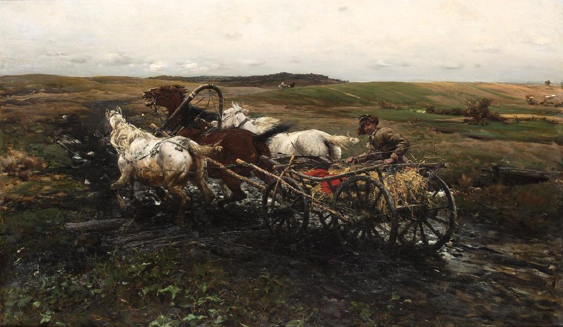 ALFRED WIERUSZ-KOWALSKI (1849-1915) - FOR THE RACE,