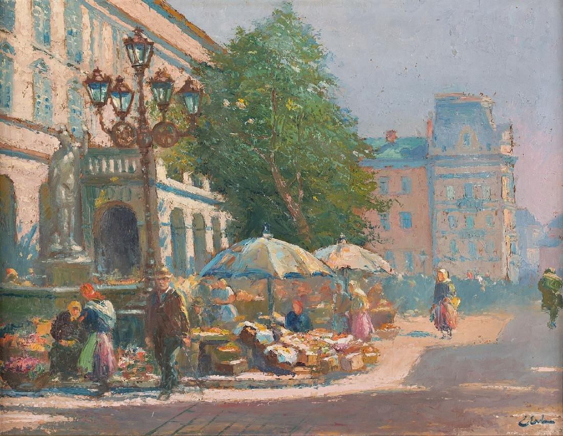 ERNO ERB (1878 – 1943) UNDER THE AMPHITRITE MONUMENT IN