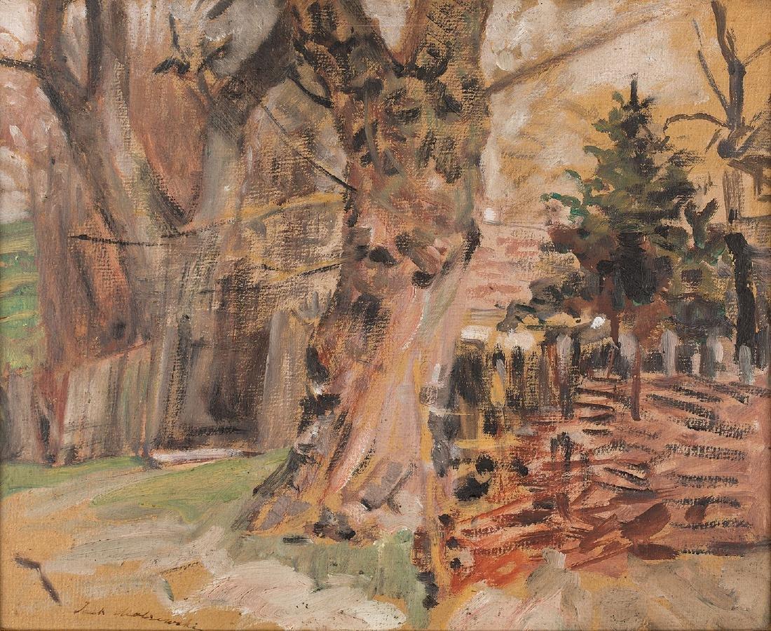JACEK MALCZEWSKI (1854 – 1929) - THE ROAD AMONG TREES,