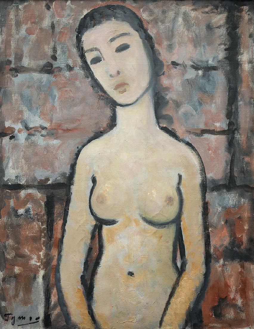 TYMON NIESIO?OWSKI (1882 – 1965) – NUDE ON A GRAY